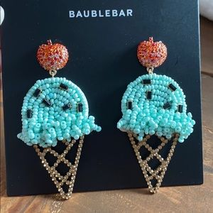 """NEW! BaubleBar """"Mint Chocolate Chip"""" cone earrings"""
